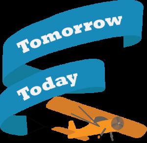 Tomorrow Today with plane SIGUCCS 2022 Logo