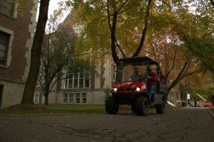 Golf Cart on Campus